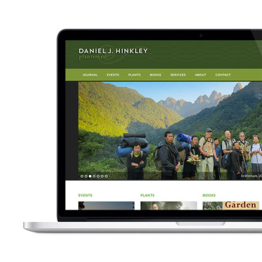 Website home page with green color scheme