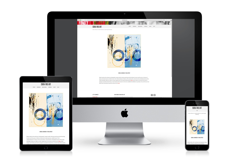Responsive fine art website