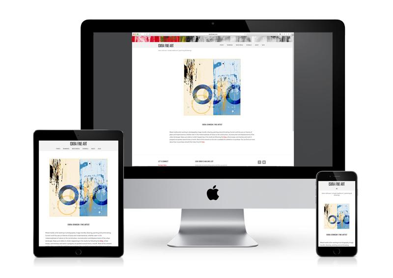 Responsive fine art website