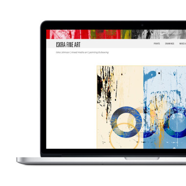 Fine art responsive website