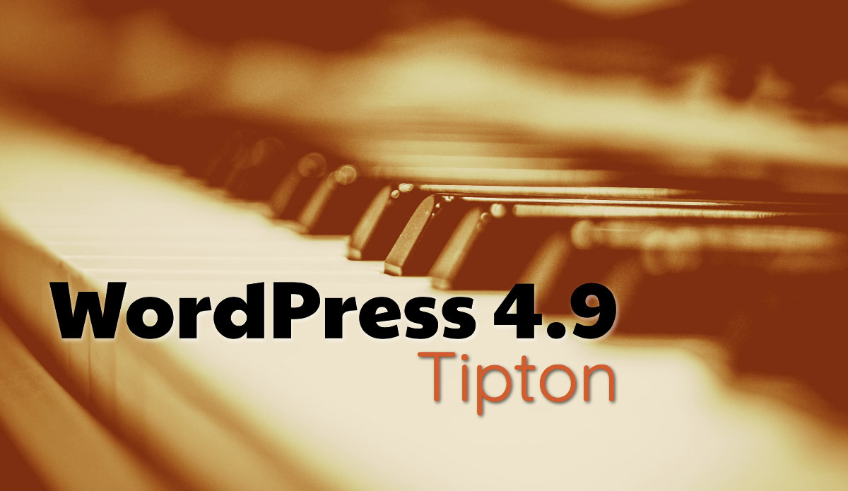 WordPress 4.9 Tipton with piano background