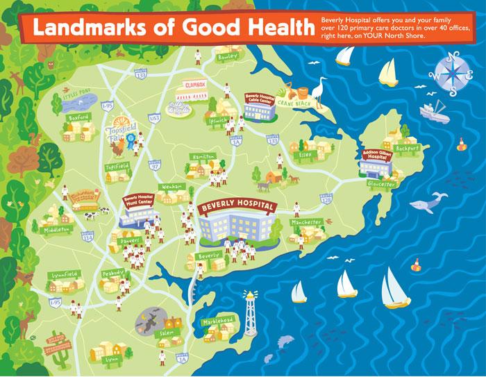 Beverly Hospital map, MA