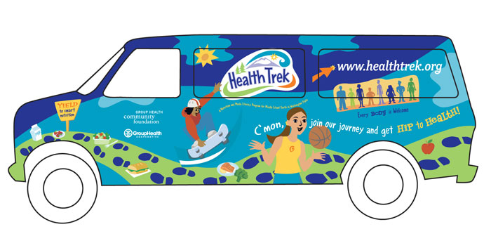 Health Trek Van Illustration Group Health Foundation