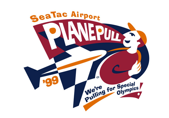 Sea-Tac Airport Plane Pull Special Olympics, Illustration Spot