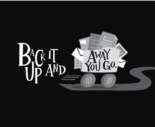 Black and white advertising illustration